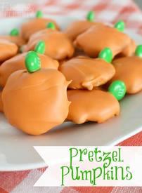 Pretzel Pumpkins!