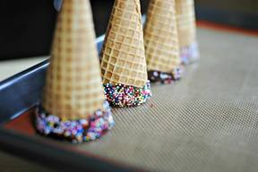 Fun Chocolate Dipped Cones!