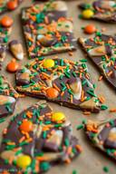 Pb Candy Corn Bark!