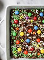 Chocolate Bark Halloween Brownies!