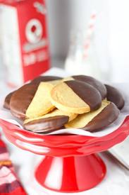 Chocolate Dipped Shortbread Cookies!