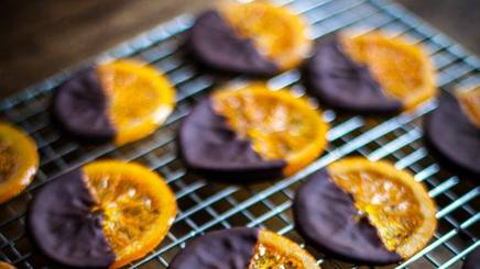 Chocolate Dipped Candied Oranges!