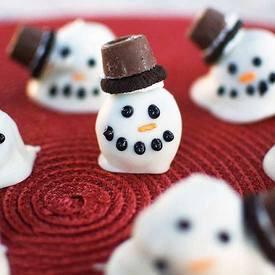 Snowman Cookie Balls!