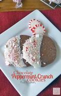 Chocolate Peppermint Crunch Cookies!