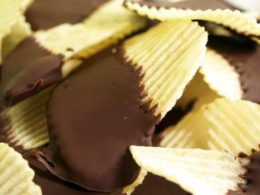 Chocolate Covered Potato Chips!