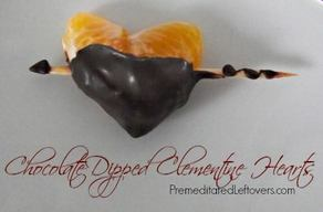 Chocolate Dipped Clementine Hearts!