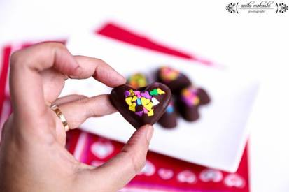 Easy Chocolate Hearts!