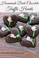 Dark Chocolate Truffle Hearts!