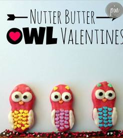 Nutter Butter Owl Valentine Cookies!