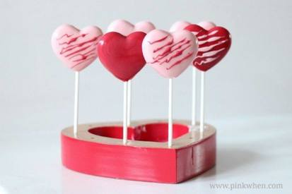 Valentine Chocolate Heart Pops!