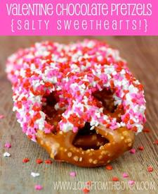 Salty Sweet Valentines Pretzel!