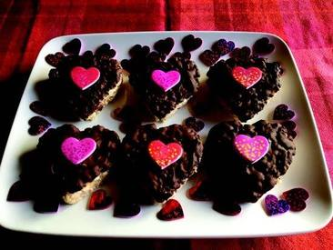 Chocolate Rice Krispies Hearts!