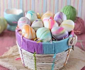 Marbled Easter Egg Truffles!