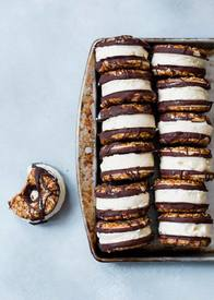 Samoas Ice Cream Sandwich Cookies!