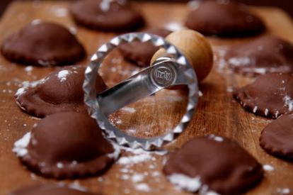 Homemade Chocolate Ravioli