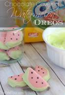 Chocolate Covered Watermelon Oreos!