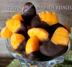 Frozen Chocolate Mandarin Oranges!