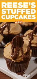 Reeses Stuffed Cupcakes!