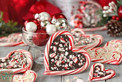 Peppermint Bark Candy Cane Hearts!