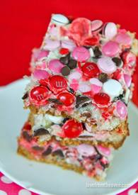 Valentines Magic Cookie Bars!