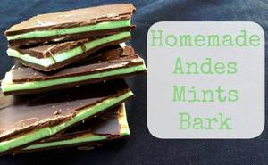 Homemade Andes Mint Bark!