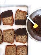 Chocolate Dipped Banana Bread!