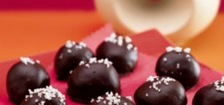 Caramel Dark Chocolate Truffles!