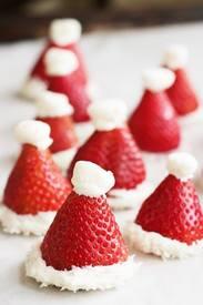 White Chocolate Santa Hats!