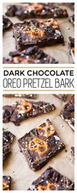 Dark Chocolate Oreo Pretzel Bark!