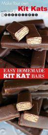 Easy Homemade Kit Kat Bars!