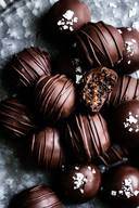 Dark Chocolate Honey Fig Walnut Truffles!