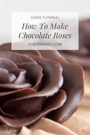 How To Make Chocolate Roses!