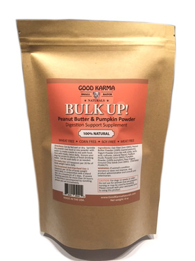 BULK UP! All Natural Pumpkin for Dogs Digestion Support, Diarrhea Relief & Dog Anal Gland Health Supplement - Fiber Pumpkin Powder for Dogs (8oz bag)