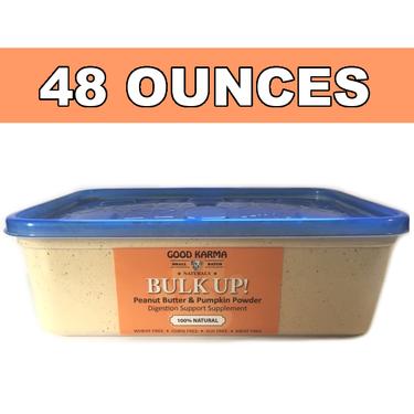 BULK UP! All Natural Pumpkin for Dogs Digestion Support, Diarrhea Relief & Dog Anal Gland Health Supplement - Fiber Pumpkin Powder for Dogs (48oz tub)