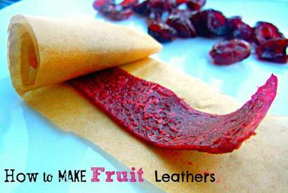 Homemade Fruit Leather!