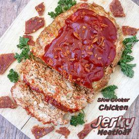 Slow Cooker Chicken Jerky Meatloaf!