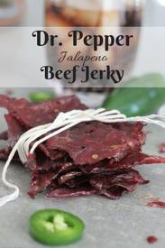 Dr. Pepper Jalapeno Beef Jerky!