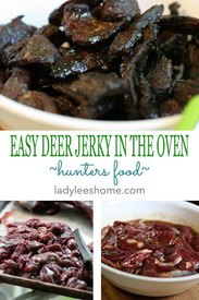 Make Deer Jerky In The Oven!