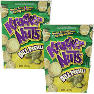Dill Pickle Kracker Nuts (2 Pack) - Cracker Coated Peanuts Snack (2 x 6 oz Bags)