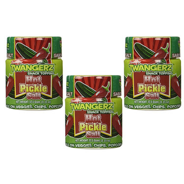 Hot Pickle Salt - Spicy Pickles Flavored Seasoning Snack Topping (3 Pack)