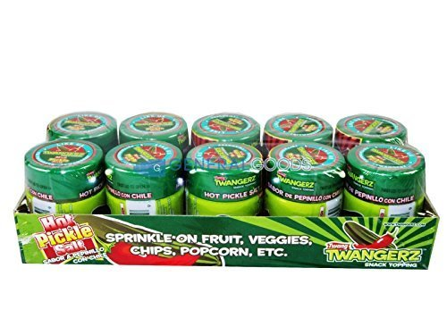 Hot Pickle Salt - Spicy Pickles Flavored Seasoning Snack Topping (10 Pack)