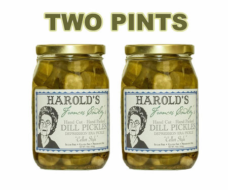 Frances Cowley's Cellar Style Gourmet Old Fashioned Dill Pickles (2 x 16 oz Jars)