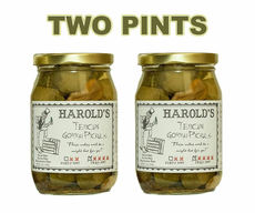 Harold's Spicy (4X Super Hot) Habanero Garlic Dill Pickles Dern Hot Pickuls (2 x 16 oz Jars)