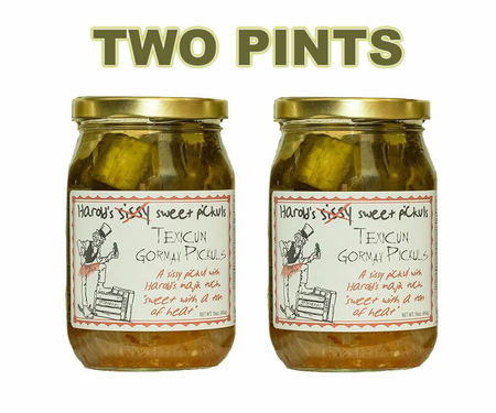 Harold's Sissy Sweet Hot Pickles - Texicun Gormay Sissy Sweet Pickuls (2 x 16 oz Jars)