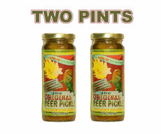 The Original Beer Pickle - Super Hot Salty Spicy Dill Pickles (2 x 16 oz Jars)