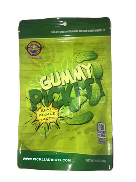 """Giant Gummy Pickle - 4.5"""" Pickle Flavored Gummi Candy"""