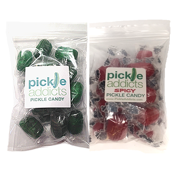 Pickle candy combo two bags flat