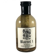 Barrel 1 Essence of Garlic Dill Pickle Juice | Cocktail Mixer and Chaser | 100% All Natural | Handcrafted in Small Batches | Unparalleled Smoothness | 16 ounce Bottle