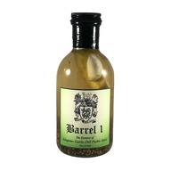 Barrel 1 Essence of Jalapeno Garlic Dill Pickle Juice | Cocktail Mixer and Chaser | 100% All Natural | Handcrafted in Small Batches | Unparalleled Smoothness | 16 ounce Bottle