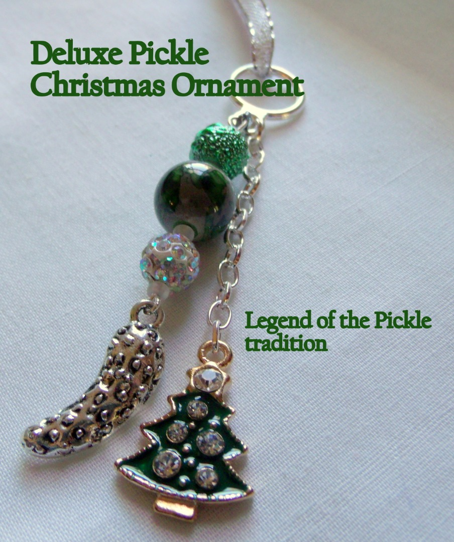 Christmas Tree Pickle Tradition: Deluxe Pickle Christmas Ornament